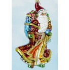 Magnificent Journey Santa, Radko Ornaments, 2003, 1011474, Red & gold robe, blue bag, presents, Christmas, Mint with Tag, Box