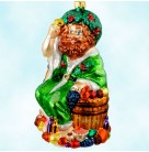 Ghost of  Present, Radko Ornaments, 1999, 99-ACC-2, A  Carol, food, fruit, Christmas, Mint with Tag, Box