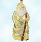 Santa for Kevin - Fall Yellow, Patricia Breen Christmas Ornaments, 2000, 2096, Milaeger's, Autumnal flower, Mint