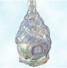 Seashell Acorn House - Blue, Patricia Breen Christmas Ornaments, 1999, 9933, aquatic, conch shell, underwater, Mint With Tag