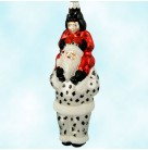 Carry Me Santa - Dalmatian & Ladybug, Patricia Breen Christmas Ornaments, 2000, B9803, Child on back, Halloween, Mint With Tag