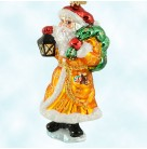 Presents from the Past, Radko Christmas Ornaments, 2000, 00-PJL-01, Portland Junior League, Santa, gold robe, lantern, Mint with Tag, Box