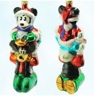 Three Cheers for Mickey - Disney, Radko Christmas Ornaments, 1997, 97-DIS-33, Mouse, Goofy, Donald Duck, totem, Mint with Tag, Box