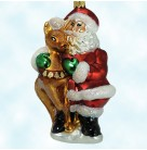 Nick and Rudy - Santa & Rudolf, Christopher Radko Christmas Ornaments, 1998, 98-423-0, Holds reindeer, Mint With Tag
