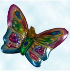 Flights of Paradise - Pink, green butterfly, Radko Ornaments, 2003, 1010683, One of 6 pieces, Christmas, Mint with Tag