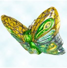 Flight of Paradise, Butterfly, Christopher Radko Christmas Ornaments, 2005, 1012184, Yellow, green, blue,, Mint with Tag