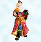 The Light Brigade, Santa, Radko Ornaments, 2005, 1012222, Red cloak, lantern, holds star, horn, Christmas, Mint with Tag
