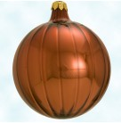 Autumn Ripple ball - Pumpkin Orange, Radko Christmas Ornaments, 1997, 97-352-0, Opaque, Christopher, Mint with Tag