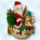 Northern Starlight Musical Rocking Horse Nutcracker Santa, Christopher Radko Home for the Holidays, 2000, 2010773, Mint with Tag, Box