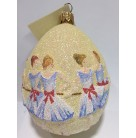 Nine Ladies Dancing, Patricia Breen Ornament, 2002, B2246, fully glittered, 12 Days of Christmas, Easter, egg, ballet, Mint with Tag