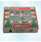 Lady Ashworth Ball Set of 6, Christopher Radko Christmas Ornaments, 2001, 01-1096-0, Fantasia floral bands, Grandmas own, Mint in Box