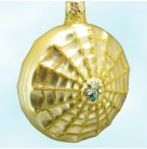 Victorian Spider and Web - Gold, Patricia Breen Christmas Ornaments, 1998, 9650, 2 Part, Gold web & glittered toggle, Mint