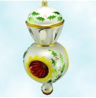 """Saraband Reflector - Holly , Christopher Radko Christmas Ornaments, 3 Tier, 995, 93-140-1, 3 German, Pear & red, 8.5"""", Mint with Tag"""
