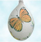 Butterfly Egg - Pearl with Butterflies,  Patricia Breen Christmas Ornaments,  2002, 2200NM , Neiman Marcus Select Retailers, Spring, Mint with Tag