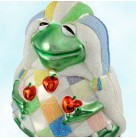 Yorick Frog - Rainbow Pastels, Patricia Breen Christmas Ornaments, 2000, 2046, Harlequin suit, juggles apples, Mint