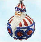 Hollstrom Santa - Patriotic, Patricia Breen Christmas Ornament, 2002, 2222, Neiman marcus Tampa Exclusive, Patriotic, Mint with Tag