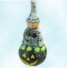 Which Pumpkin - Gray Cloak, Patricia Breen Christmas ornament, 2008, 2854, Halloween, black cat, bejeweled, spiders, Mint with Tag