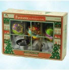 Stratos Fair - Fantasia Drops Set 3, Radko Christmas Ornaments, 2001, 1012711, 2 Tier, Multicolored balloons, Mint in Box