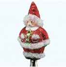 Charming Claus - Red, Breen Christmas Ornaments, 2008, 2812, Clipon, Bejeweled, Patrici, Mint with Tag