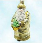 Santa of the Daisies, Patricia Breen Christmas Ornaments, 1998, B9899, Basket of flowers, Wm. Andrews exclusive, Mint with Tag