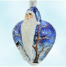 True Love Santa - Two Turtle Doves Blue, Patricia Breen Christmas Ornaments, 2003, 2355, Heart & tree, Valentines, Mint with Tag