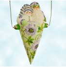 Victorian Candy Cone - Passion Flowers, Patricia Breen Christmas Ornaments, 2005, 2580, Flowers, Milaeger's, Swarovski crystals, Mint with Tag