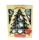 Tinsel Snow Topped Balls Boxed Set 12, Radko Ornaments, 2005, 4012680, Shiny Brite, Christmas Christopher, Mint in Box