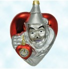 Tin Man With Heart Clock, Polonaise Christmas Tree Ornaments, 1999, AP1217, Kurt Adler, Wizard of Oz, 1939 rendition, Mint with Tag, Box