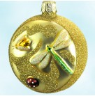 Hollis Park Medallion - Gold, Patricia Breen Christmas Ornament, 1998, 9818, Dragon Fly,  Insects, Mint
