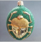 Cleopatra's Scarab - Green, Patricia Breen Christmas Ornaments, 1998, 9709, Ancient Egypt, Gold beetle, Green glitter, Variant, Mint with Tag