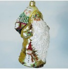 Santa for Jessica - Gold, Patricia Breen Christmas Ornaments, 2005, 2005NM, St. Louis Neiman Marcus Exclusive Ltd, Bejweled, Mint with Tag