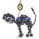 Good Luck Charm, Christopher Radko Christmas Ornaments, 1998, 98-234-0, Czech Republic, Black Cat, Halloween, Beaded, Mint with Tag