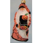 Jack in the Box Santa - Halloween Orange, Patricia Breen Christmas Ornament, 2003, 2374, NM Exclusive, Pumpkin, spiders, Mint with Tag