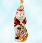 Santa Suits Billy Bunny, Radko Ornaments, 2000, 00-1264-0, Bill Rhodes Event, red Santa suit rabbit, Easter, Christmas, Mint with Tag, Box